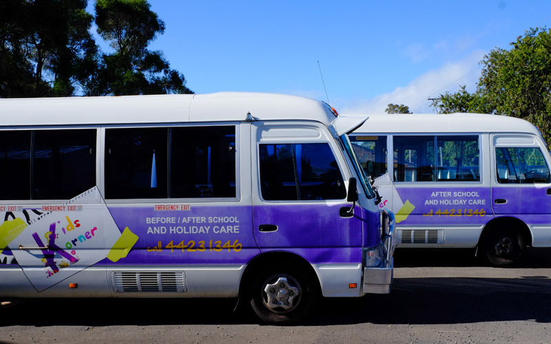 nowra vacation care bus